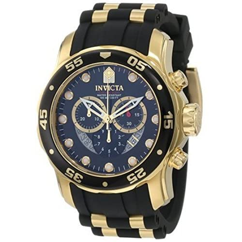 腕時計 Invicta Men's 6981 Pro Diver Collection Chronograph Black Dial Black Polyurethane Watch【並行輸入品】