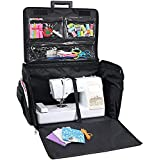 Everything Mary Black Quilted XL 360° Case, 4 Wheel Sewing Machine Trolley Bag