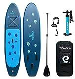 WOWSEA SUP サップ アップパドルボード サップボード 幅80cm 厚15cm 積載130-150kg 初心者 中級者 滑り止め 7点セット SUPボード ヨガ 釣り 海 夏 アウトドア インフレータブルサーフボード