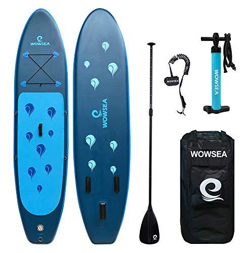 WOWSEA SUP サップ アップパドルボード サップボード 幅80cm 厚15cm 積載130-150kg 初心者 中級者 滑り止め...