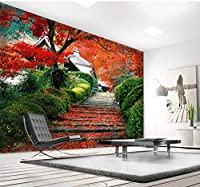 Lcymt カスタムモダンビニール壁紙写真森の風景ビニール壁紙モダンフォト壁紙柔らかい家の装飾-400X280Cm