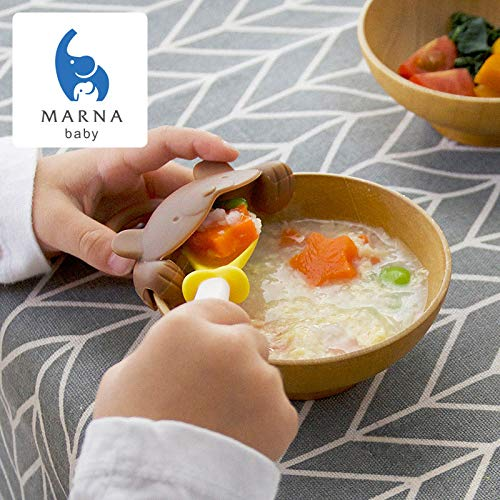 MARNA baby 上手にすくえる ぱくぱくスプーン&キャッチャー 【クマ】 K715