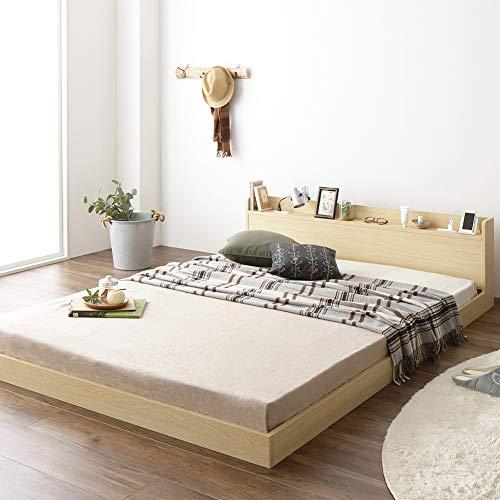 ベストバリュースタイル ベッド 低床 ロータイプ すのこ 木製 宮付き B07RQP4JY8 1枚目