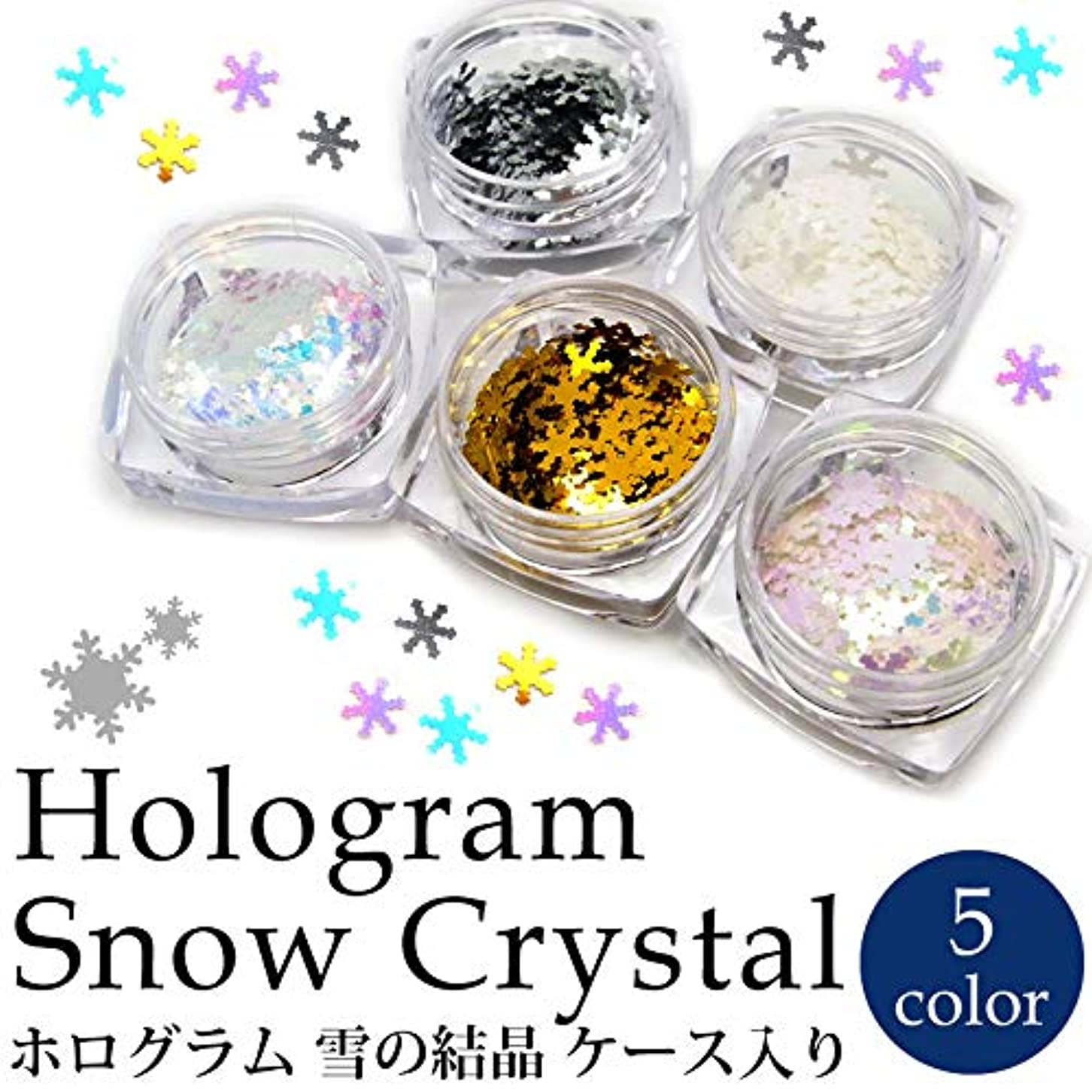 選択ステーキピアニストホログラム 雪の結晶 各種 ケース入り (5.ホワイトオーロラピンク)