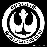 Rogue One Squadron スター・ウォーズ・インスパイア・デカール・ビニール・ステッカー 車 トラック 壁 ノートパソコン ホワイト 5.5インチ URI207