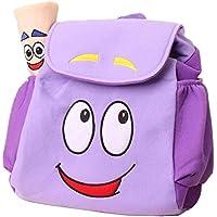 WEN FEIYU Dora Explorer Backpack Rescue Bag with Map,Pre-Kindergarten Dora Backpack Purple