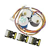 Fenteer ULN2003ドライブモジュール+ステッピングモータ 5線 4相  各3個 ステッパ駆動基板