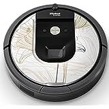 iRobot ルンバ Roomba 専用スキンシール ステッカー 960 980 対応 フラワー 花 001334