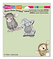 """Stampendous House Mouse Cling Rubber Stamp 4""""X3.5"""" Sheet -Santa Mouse (並行輸入品)"""