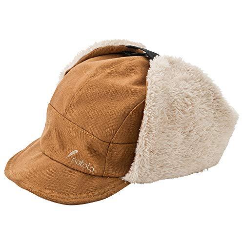 nakota ナコタ キャンバスフライトキャップ 【キャメル】 パイロットキャップ 耳付き ボア 帽子 メンズ レディース 防寒 冬