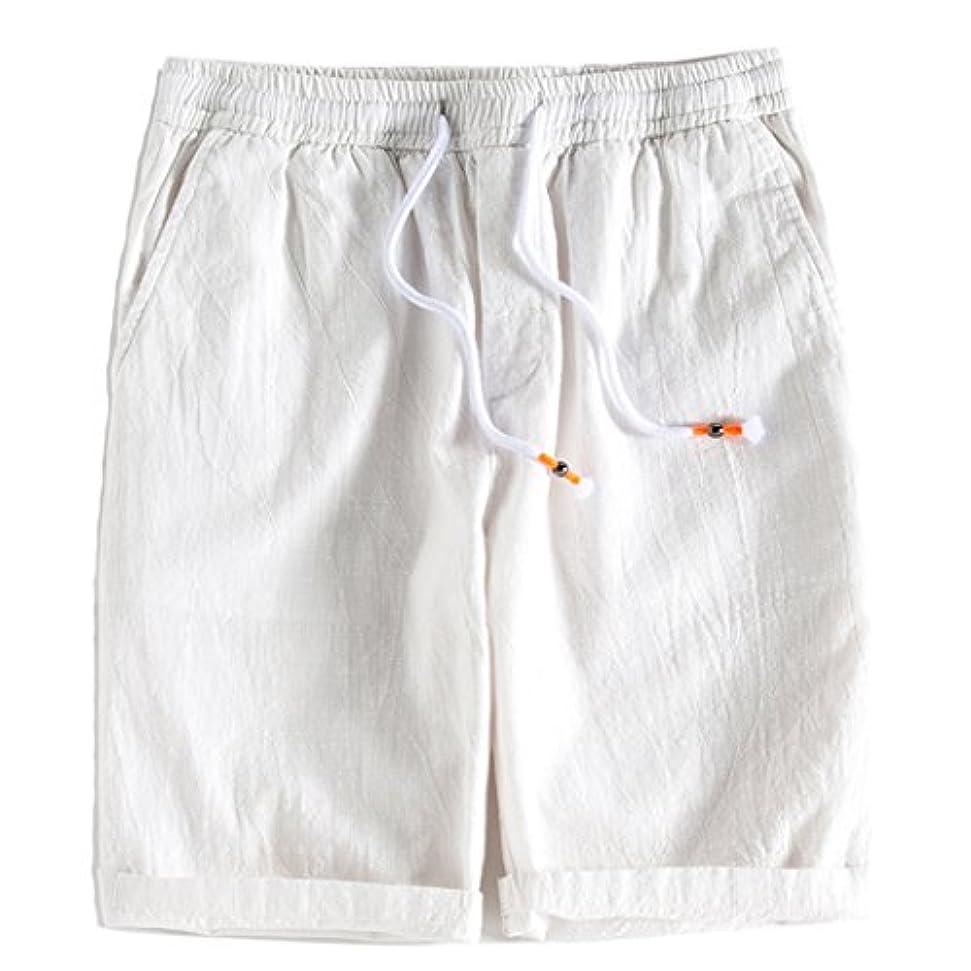 ライトニングメッシュ聖なるSemiAugust(セミオーガスト)ショートパンツ メンズ 短パン カジュアル 麻 半ズボン ハーフパンツ 夏 無地 通気性 5分丈 ボトムス おしゃれ