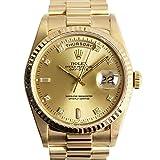 ROLEX(ロレックス) デイデイト メンズ腕時計 金無垢 10Pダイヤ 自動巻き 18Kイエローゴールド シャンパン文字盤 18238A S番 ギャランティーあり(中古)[並行輸入品] [並行輸入品]