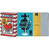 【まとめ買いセット】 タバコサイズコンドーム お試しセット 【キース・ヘリングLOVE(5個入り)ファイティング スピリットM(6個入り) リンクルゼロゼロ500(4個入り)】