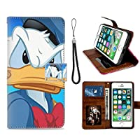 DISNEY COLLECTIONiPhone 6, iPhone 6S, iPhone 6/6S 手帳型ケースAngry Donald Duck 財布型 マグネット式 横置き機能カード収納 耐衝撃 手帳型ケース高級なPUレザー スリム軽量ソフト耐久性 スマホケース スマホカバーiPhone 6, iPhone 6S, iPhone 6/6S