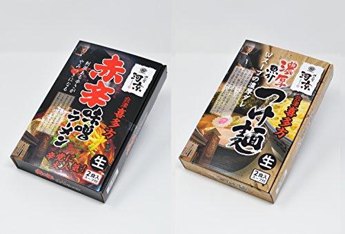 【河京】赤辛味噌ラーメン2食×濃厚魚介つけ麺2食