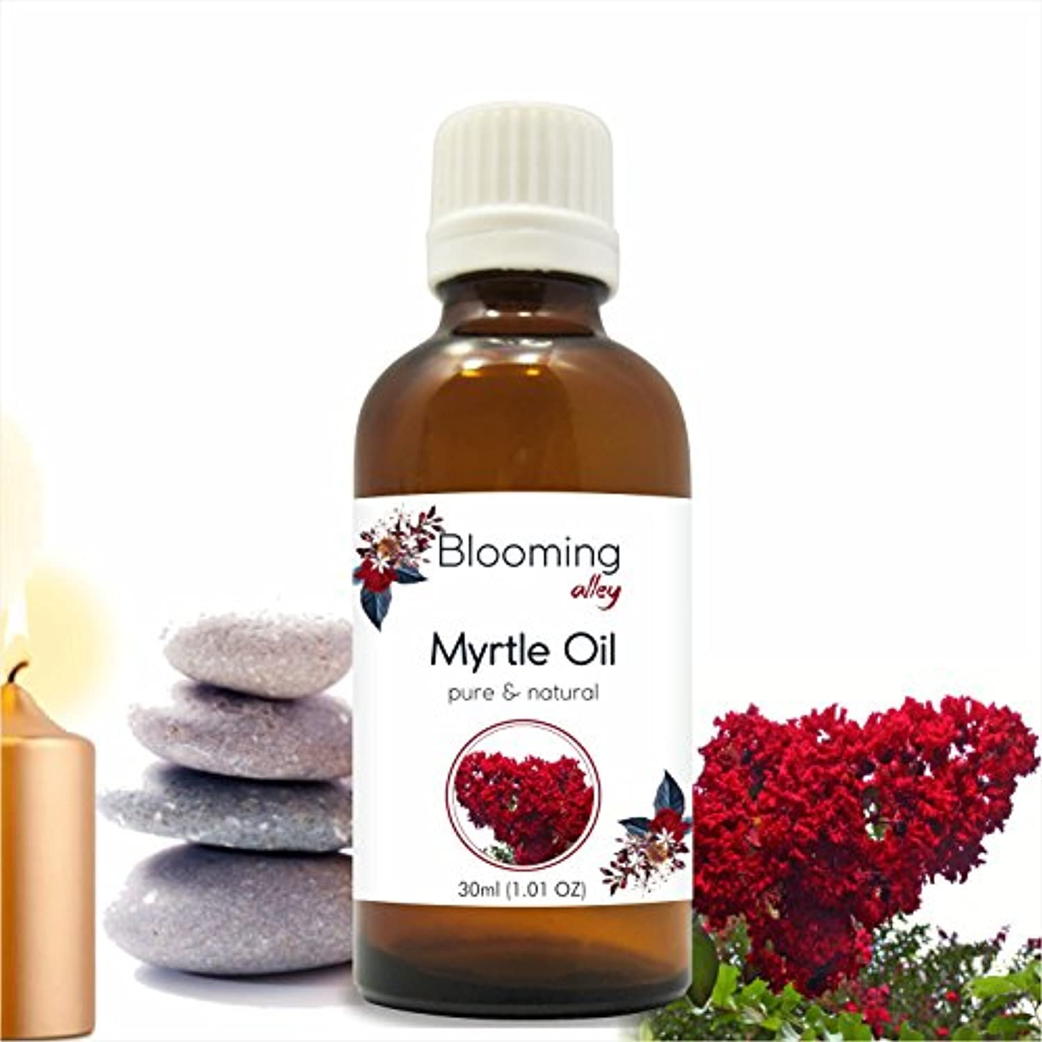 旅行ブラストドライMyrtle Oil (Myrtus Communis) Essential Oil 30 ml or 1.0 Fl Oz by Blooming Alley