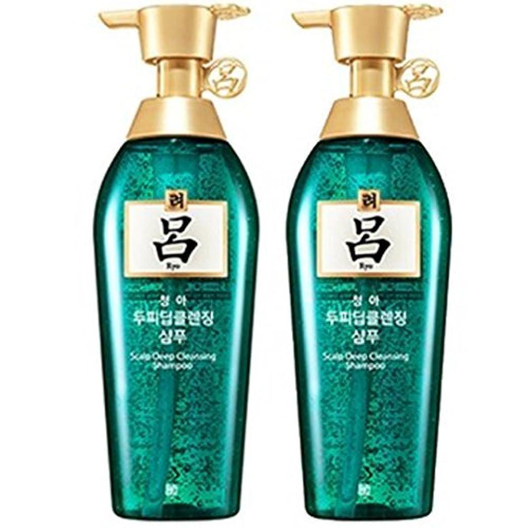 広告主血タッチ[RYO/呂/リョ] 清雅頭皮 ディープ クレンジング 企画セット(シャンプー/400mlX2ea)/Cheong ah Scalp Deep Cleansing Shampoo