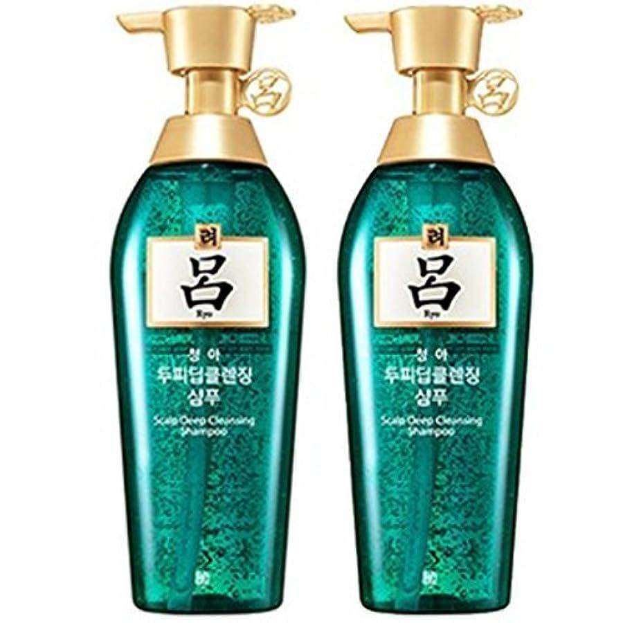 思慮深い文字操作[RYO/呂/リョ] 清雅頭皮 ディープ クレンジング 企画セット(シャンプー/400mlX2ea)/Cheong ah Scalp Deep Cleansing Shampoo
