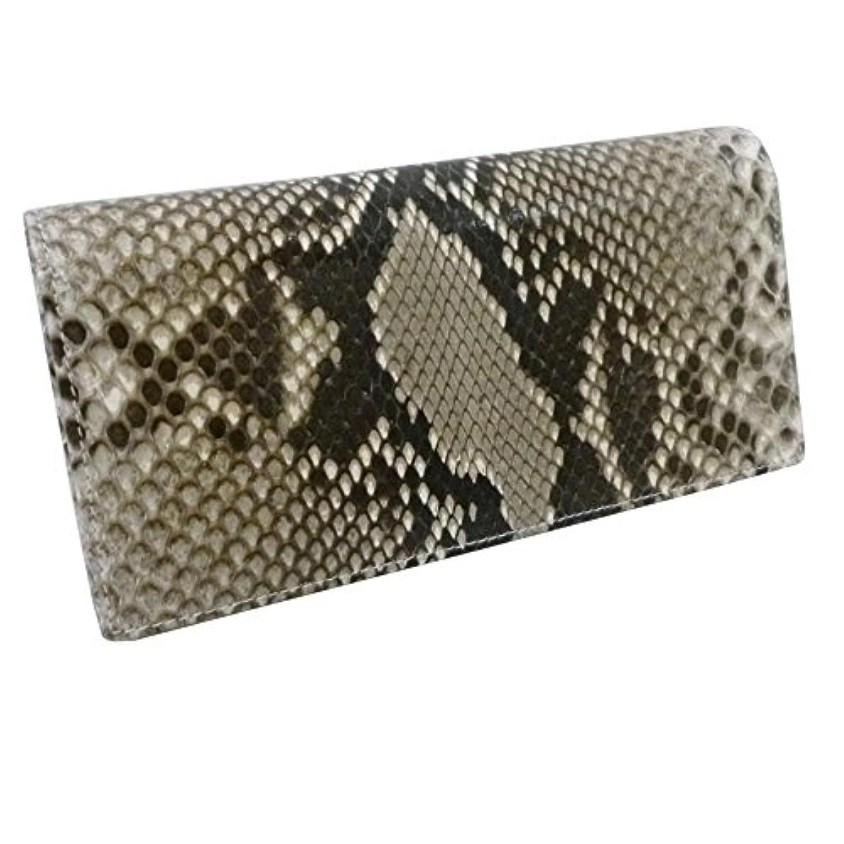 名誉秀でる宙返り蛇革パイソン 財布/艶有両面パイソン長財布(058)