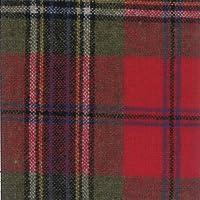 ウール【19790】【柄物】【ウール生地】カラー全5色【50cm単位 切り売り】【ウールツイード】 71 レッド/グリーン