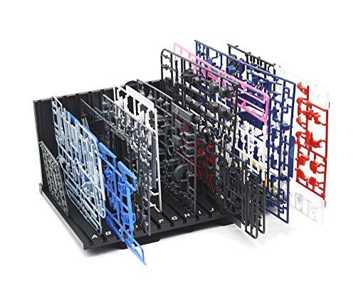 ランナースタンド L字型 コンパクト パーツ立て プラモデル 模型 組み立て スムーズ 便利 快適 工作 作業効率