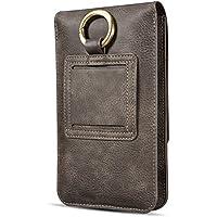 6.5インチ ケース、SIMPLE DO スマホ ベルトケース カードポケット 小銭入れ 財布型 スマホポーチ 携帯便利 PUレザー 腰 ウエストポーチ 6.5インチまで各機種対応