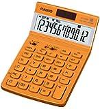 カシオ デザイン電卓 ジャストタイプ 12桁 JF-V200RD-N ボルドーレッド