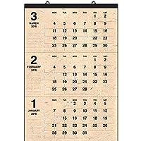 壁掛カレンダー【2019年 1月始まり】A1 クラフト3マンス CK-07