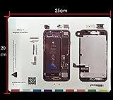 Mobile Expert【Amazon限定 】iPhone7専用 マグネット式 修理用 分解 保管ネジマップ 4.7インチアイフォン7専用 ネジテンプレート ネジ位置確認保管板 磁石式 1枚 Screw Chart For アイフォン7 (For iPhone7 専用) i磁石式i7 (磁石式)