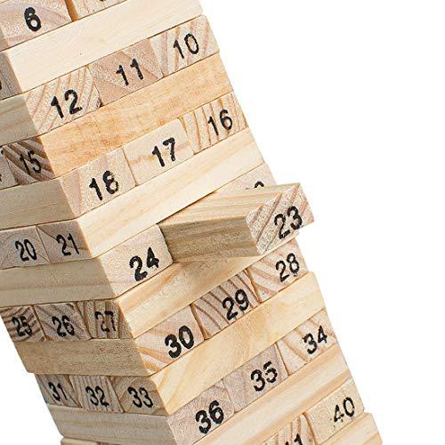 Mini Tower Wood Block Educational Fun Family Game - 51 Pieces (2 Pcs)