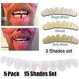 5パックインスタントスマイルテンポラリートゥースキット3色付き欠けているか壊れている歯の修正が数分以内にあなたの笑顔を直します