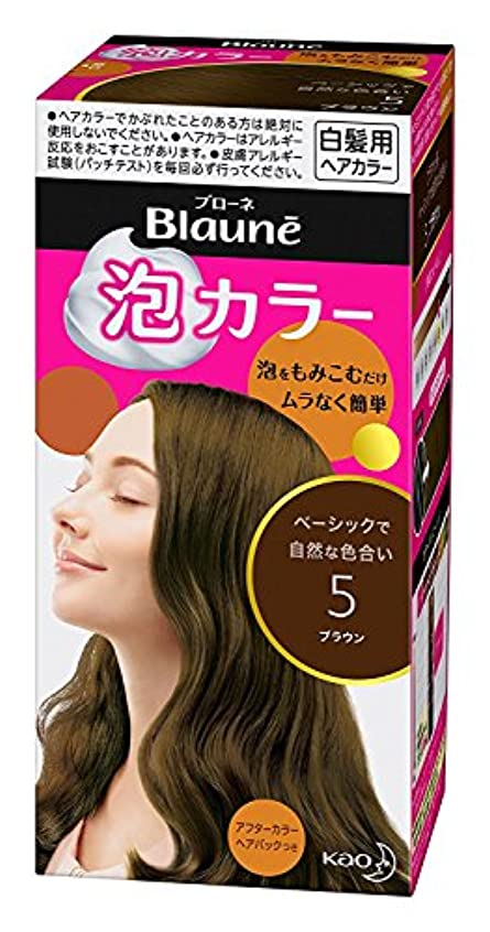 癌小説家シール【花王】ブローネ泡カラー 5 ブラウン 108ml ×5個セット