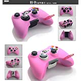 【Liroyal】Xbox 360コントローラーカバー Xbox 360 Controller cover エックスボックス360ゲームパッドシリコンカバー (ピンク)