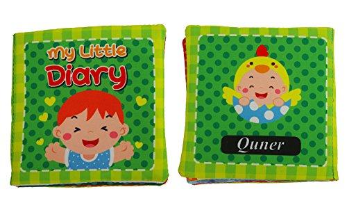Quner ベビー用品 赤ちゃん あそびえほん 4本セット子供絵本 知育玩具 音が鳴る 学習多機能 破れない 英語 おでかけ布えほん ソフトブック 布のおもちゃ