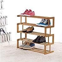 靴ラック木マルチスタックスラット家庭ホームアセンブリ靴箱100%天然竹の靴の収納ラック (サイズ さいず : B)