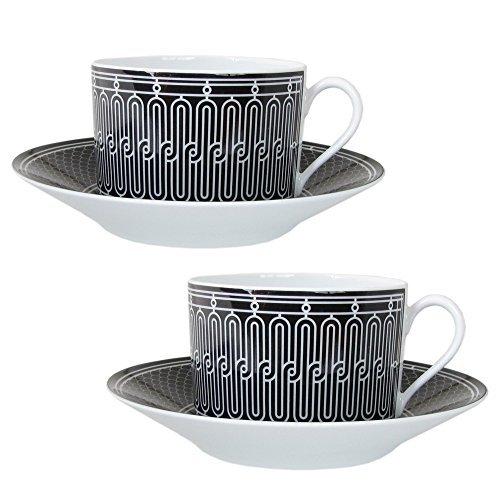 エルメス HERMES Hデコ モーニングカップ&ソーサー ペア 340ml 037015P2 [並行輸入品]