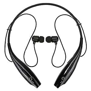 タオバオの達人 オリジナル スポーツ ステレオ ワイヤレス ブルートゥース Bluetooth ヘッドホン イヤホン for iPhone スマートフォン パソコン タブレット ブラック 黒色 IFHV800-BK