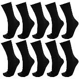 【Ashuneru】 メンズ ビジネス ソックス 靴下 10足セット 25cm~28cm 抗菌 防臭 リブ編みソックス XO-V009()