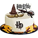 Magical Wizard Happy Birthday Cake Topper