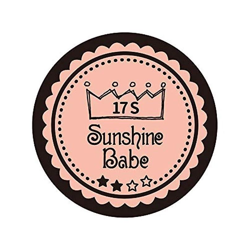 劣る近代化縁Sunshine Babe カラージェル 17S ヌーディローズ 2.7g UV/LED対応