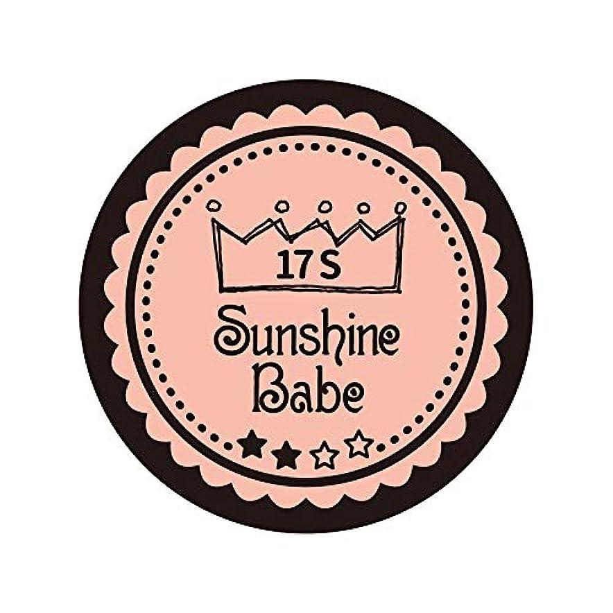 ロック解除後ろに伝導Sunshine Babe カラージェル 17S ヌーディローズ 2.7g UV/LED対応