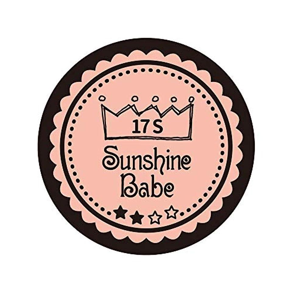 機動入浴大混乱Sunshine Babe カラージェル 17S ヌーディローズ 2.7g UV/LED対応