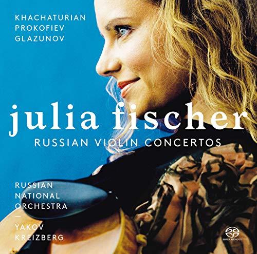 ハチャトゥリアン&プロコフィエフ&グラズノフ : ヴァイオリン協奏曲 / ユリア・フィッシャー (Khachaturian,Prokofiev&Glazunov: Violin Concertos / J.Fischer) [SACD] [Import] [日本語帯・解説付]