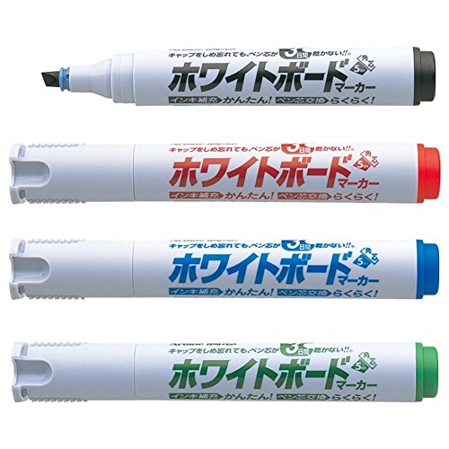 シヤチハタ 潤芯 ホワイトボードマーカー 角芯 4色セット K-529/4W 1セット(4色)