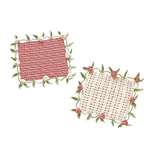 オリムパス製絲 編み物キット エミーグランデ ロマンティックレース ローズモチーフとリーフのドイリー EG-97