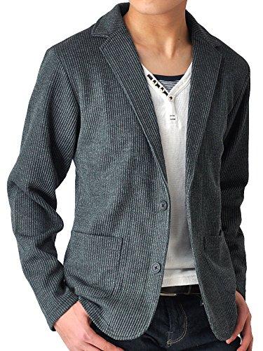 (アローナ)ARONA テーラードジャケット メンズ ジャケット シャドーストライプ /Y A31チャコールショート丈 3L