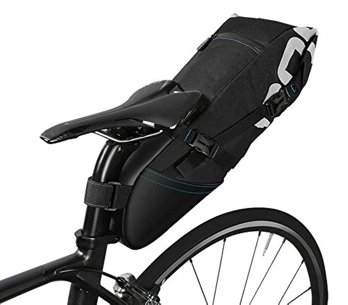 引き算迷彩対BETTER YOU (ベター ュー) サドルバッグ 自転車バッグ サイクリングバッグ 便利 軽量 防水 簡単装着 水筒入れ 大容量 ブラック (10L)