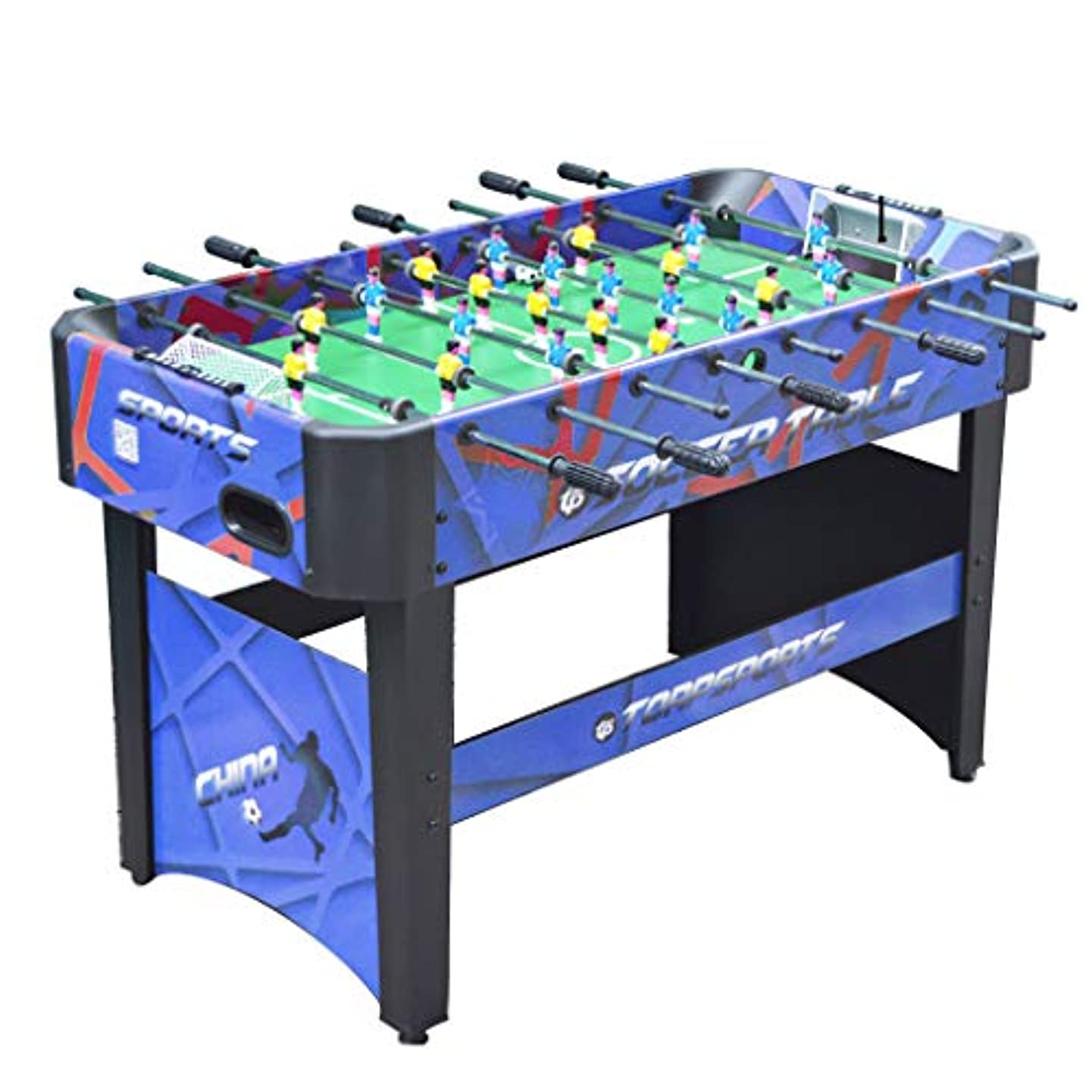 週間不機嫌そうな百年テーブルサッカーキッズ卓球玩具マルチプレイヤーゲーム機両親と子供のインタラクティブビリヤード大人の屋内サッカーマシン家族の子供の教育玩具 (Color : BLUE, Size : 120*60*80CM)