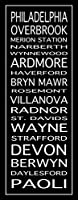 """メインラインTrainスクロール2「Philadelphia壁アートプリントby Louフォード 9"""" x 24"""" 4770209_3_0"""