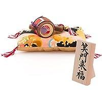 (ファンファン) FUN fun 正月飾り 迎春飾り 小槌飾り 笑門来福 間口18*奥行11*高さ6.5(約cm) 日本製